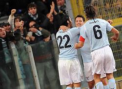 03.12.2010, Stadio Olimpico, Rom, ITA, Serie A, Lazio Rom vs Inter Mailand, im Bild Jubel bei mauro zarate (lazio), EXPA Pictures © 2010, PhotoCredit: EXPA/ InsideFoto/ Massimo Oliva         +++++ ATTENTION - FOR AUSTRIA/AUT, SLOVENIA/SLO, SERBIA/SRB an CROATIA/CRO CLIENT ONLY +++++