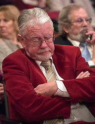 © Licensed to London News Pictures. 28/02/2015. Margate, UK. Sleeping delegates during the speeches at the second day of the conference.  The UKIP spring conference at Margate Winter Gardens 28th February 2015. Photo credit : Stephen Simpson/LNP
