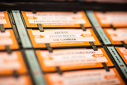 """© Licensed to London News Pictures. 27/11/2016. Leeds UK. Picture shows the Rocket jukebox, the only vinyl playing jukebox being produced in the world. A resurgence in the popularity of Vinyl has prompted Leeds based Jukebox manufacturer Sound Leisure to build a new Vinyl playing Jukebox called the Rocket making them the only company in the world building a jukebox that play's vinyl record's. The first of the new Jukeboxes have started to roll of the production line in Yorkshire at a cost of £8,000 & can play 140 songs. The Rocket hold's 70 7"""" record's on a rotating mechanism, has a D4 amplifier with a 60W output & a remote control. Demand for the Rocket is high with order's from across the globe. Photo credit: Andrew McCaren/LNP"""