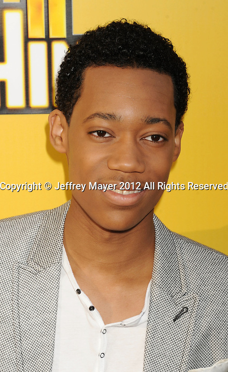 LOS ANGELES, CA - JUNE 05: Tyler James Williams attends Disney's 'Let It Shine' Premiere held at The Directors Guild Of America on June 5, 2012 in Los Angeles, California.