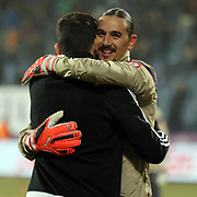 Osmanlispor's goalkeeper Ahmet Sahin during their Turkish Super League soccer match Osmanlispor between Besiktas at the Osmanli Stadium in Ankara Turkey on Monday 21 December 2015. Photo by Kurtulus YILMAZ/TURKPIX