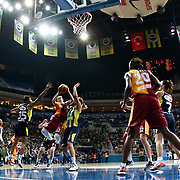 Galatasaray's Lindsay Whalen (3ndL) during their Turkish Basketball woman league derby match Fenerbahce between Galatasaray at Ulker Sports Arena in Istanbul, Turkey, wednesday, December 26, 2012. Photo by Aykut AKICI/TURKPIX