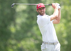 May 31, 2018 - Dublin, OH, U.S. - DUBLIN, OH - MAY 31: Dustin Johnson tees off during the first round of the Memorial Tournament at Muirfield Village Golf Club in Dublin, Ohio on May 31, 2018.(Photo by Jason Mowry/Icon Sportswire) (Credit Image: © Jason Mowry/Icon SMI via ZUMA Press)