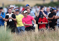Northern Ireland's Rory McIlroy chips from the rough on the 6th during day four of The Open Championship 2018 at Carnoustie Golf Links, Angus.