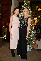 Left to right, DAISY BEVAN and JOELY RICHARDSON at a VIP evening hosted by Joely Richardson at the Tiffany & Co Christmas Shop, Tiffany & Co Old Bond Street, London on 24th November 2013.