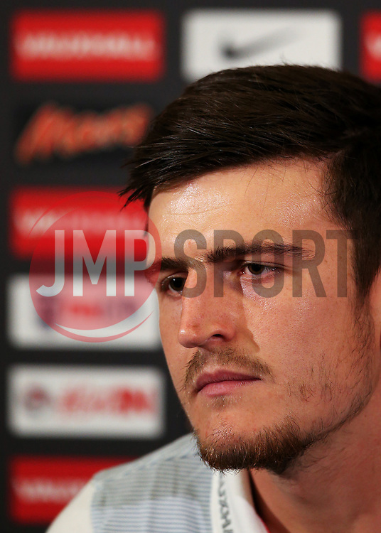 England's Harry Maguire speaks during the press conference - Mandatory by-line: Matt McNulty/JMP - 31/08/2017 - FOOTBALL - St George's Park National Football Centre - Burton-upon-Trent, England - England Training and Press Conference