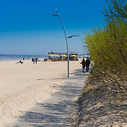 Boardwalk near beach in Jurmala, Latvia