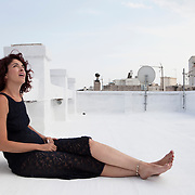 """Athens, Greece, July 18,, 2014. Ioanna Valsamidou, Greek, theatre artist and social worker, exploring scenic work and performance as a form of social integration and development :""""I wanna do an anthropocentric job, focusing on the vulnerable margins of the society - bliss is not the request of our days""""."""