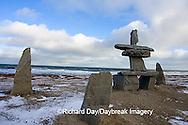 60595-010.10 Inukshuk near Hudson Bay Churchill MB Canada