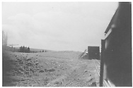 Northbound RGS train leaving the north end of Lizard Head snowshed.  We may be looking alongside the gondola from a coach in the 1947 RMRRC excursion train.<br /> RGS  Lizard Head, CO  Taken by Maxwell, John W. - perhaps 5/31/1947