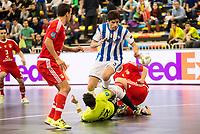 Benfica's Juanjo and Pescara's Luca Leggiero during UEFA Futsal Cup 2015/2016 3º/4º place match. April 22,2016. (ALTERPHOTOS/Acero)
