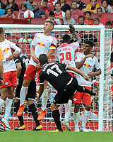 Football - 2017 Emirates Cup [pre-season friendly competition] - RB Leipzig vs. Sevilla<br /> <br /> Pablo Sarabia of Sevilla chips the wall over the Leipzig wall of Leipzig  at The Emirates.<br /> <br /> COLORSPORT/ANDREW COWIE