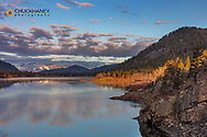 Sunrise clouds above Rainbow Lake near Plains, Montana, USA