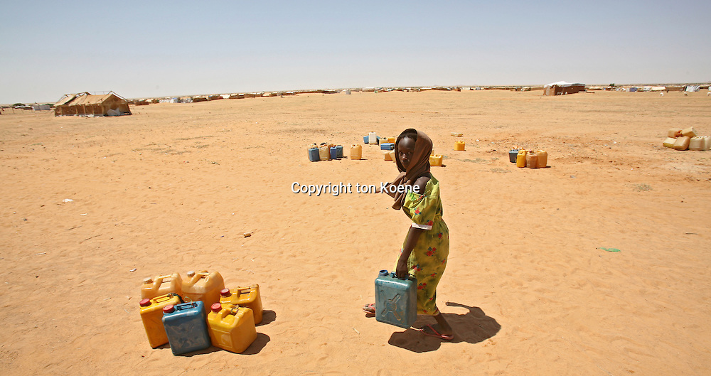 water well in a sudanese refugeecamp in Chad