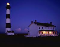 AA05829-02...NORTH CAROLINA - Bodie Island Lighthouse in Cape Hatteras National Seashore.