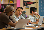 Students participate in the Twilight program at Milby HS, September 10, 2013.
