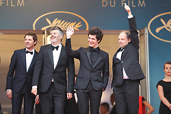 Actress Adele Wismes, actor Pierre Deladonchamps, director Christophe Honore, actor Vincent Lacoste and actor Denis Podalydes attends the screening of Sorry Angel (Plaire, Aimer Et Courir Vite) during the 71st annual Cannes Film Festival at Palais des Festivals on May 10, 2018 in Cannes, France. Photo by Shootpix/ABACAPRESS.COM