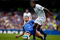Photo: Richard Lane/Sportsbeat Images. <br />Chelsea v Birmingham. Barclay's Premiership. 12/08/2007. <br />Birmingham's Olivier Kapo is challenged by Chelsea's Frank Lampard.