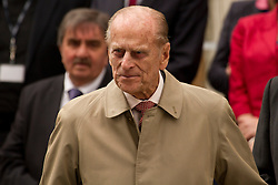 © Licensed to London News Pictures. 02/05/2012. Exeter, UK. The Duke of Edinburgh, Prince Philip at Princesshay shopping centre, Exeter. Photo credit : Ashley Hugo/LNP