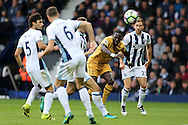 Moussa Sissoko of Tottenham Hotspur shoots wide of goal.  Premier league match, West Bromwich Albion v Tottenham Hotspur at the Hawthorns stadium in West Bromwich, Midlands on Saturday 15th October 2016. pic by Andrew Orchard, Andrew Orchard sports photography.