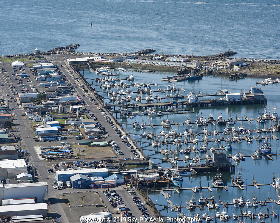 Westport Marina in Westhaven Cove, Grays Harbor County, Washington State Coast.