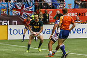 VANCOUVER, BC - MARCH 11: Ryan Oosthuizen (#1) of South Africa scores during Game # 44- South Africa vs Usa Bronze Medal Match match at the Canada Sevens held March 11, 2018 in BC Place Stadium in Vancouver, BC. (Photo by Allan Hamilton/Icon Sportswire)