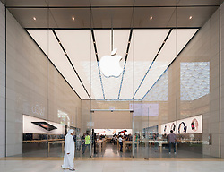 New Apple store in Yas Mall in Abu Dhabi United Arab Emirates
