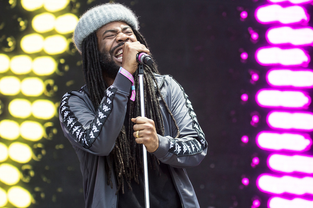 Big Baby DRAM performing at Bonnaroo in Manchester, TN on June 9, 2017.