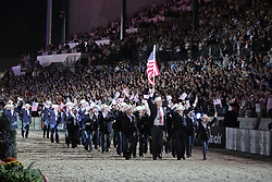 Openingceremony: Team United States of America<br /> World Equestrian Games Lexington - Kentucky 2010<br /> © Dirk Caremans
