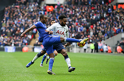 Ricardo Pereira of Leicester City clears under pressure from Danny Rose of Tottenham Hotspur - Mandatory by-line: Arron Gent/JMP - 10/02/2019 - FOOTBALL - Wembley Stadium - London, England - Tottenham Hotspur v Leicester City - Premier League