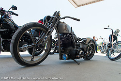 Led Sled custom Sportster on the ride from Suck, Bang, Blow in Murrells Inlet, SC to Rockingham, NC for the Smokeout 2015. USA. June 18, 2015.  Photography ©2015 Michael Lichter.