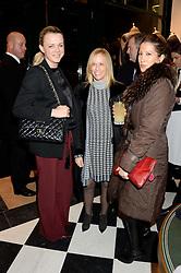 Left to right, SOPHIE MICHELL, KIA SAMUEL-JOHNSON and PRINCESS TAMARA CZARTORYSKI-BORBON at the Kent and Curwen London Flagship Launch, Saville Row, London on 6th November 2013.