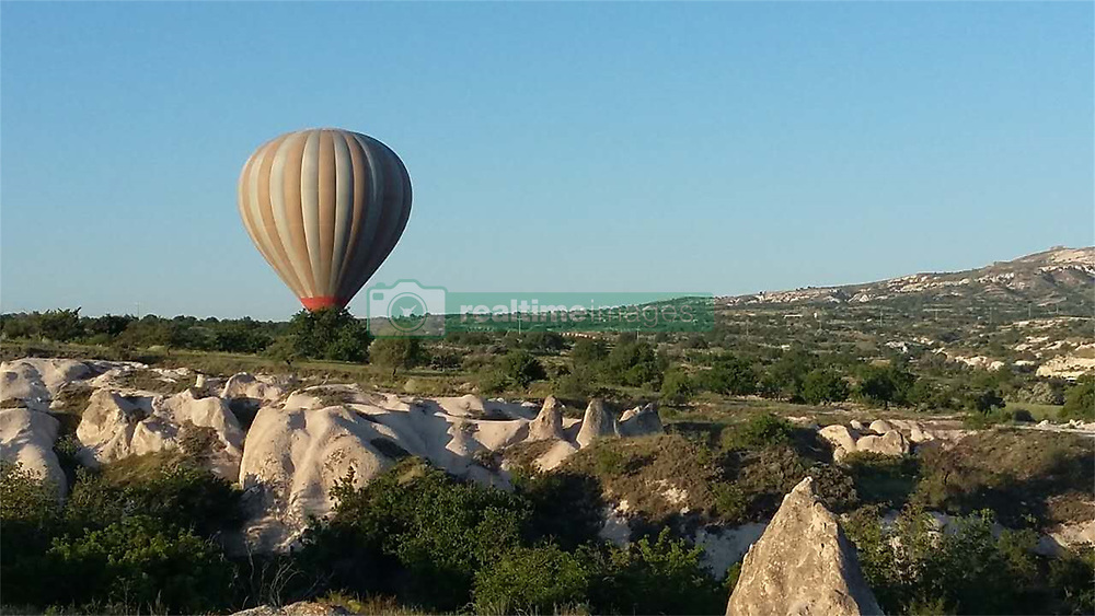 June 13, 2017 - Cappadocia, Cappadocia, China - Cappadocia, Turkey-June 13 2017: (EDITORIAL USE ONLY. CHINA OUT)..Hot-air ballooning is very popular in Cappadocia, Turkey.Cappadocia is a historical region in Central Anatolia, Turkey. (Credit Image: © SIPA Asia via ZUMA Wire)