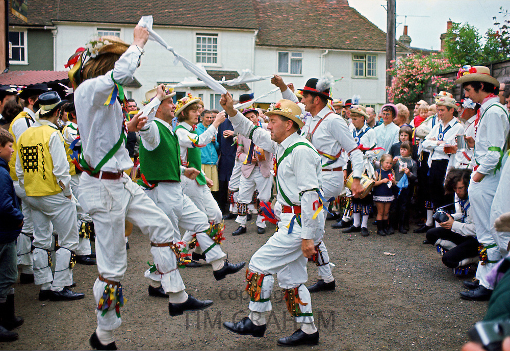 Male dancers Morris Dancing, Essex., United Kingdom.
