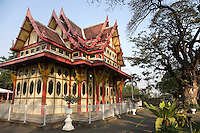 Hua Hin Railway Station is an architectural treasure of gingerbread woodwork, it's special royal waiting room on the platform is a favorite sight for tourists and arrival train passengers.  The station and the town itself exude rural charm.