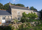 Traditional granite farmhouse building Gweek, Cornwall, England