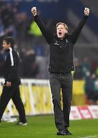 Schlussjubel Trainer Markus Gisdol (HSV)<br /> Hamburg, 10.12.2016, Fussball, Bundesliga, Hamburger SV - FC Augsburg 1:0<br /> <br /> Norway only
