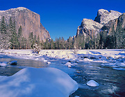Gates of theValley in Winter,Yosemite National Park, California