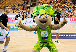 Lipko, official mascot during friendly match between National teams of Slovenia and Latvia for Eurobasket 2013 on August 2, 2013 in Arena Zlatorog, Celje, Slovenia. Slovenia defeated Latvia 71-67. (Photo by Vid Ponikvar / Sportida.com)