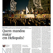 """Tearsheet of """"Egypt: Murder in Heliopolis"""" published in Expresso"""