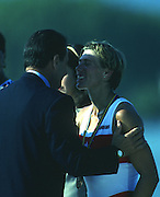 Banyoles, SPAIN, BRONZE Medalist,  CAN W1X SILKEN LAUMANN,  awards dock and competing in the 1992 Olympic Regatta, Lake Banyoles, Barcelona, SPAIN.   [Mandatory Credit: Peter Spurrier: Intersport Images]