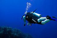 Scuba Diver, Penny's Arch, Grand Cayman