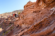 Vincent Tupin competes at the 2019 Red Bull Rampage in Virgin, UT. © Brett Wilhelm
