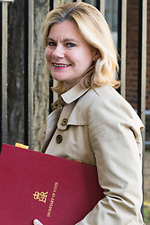 Downing Street, London, April 25th 2017. Education Secretary Justine Greening leaves the weekly cabinet meeting at 10 Downing Street in London. Credit: ©Paul Davey
