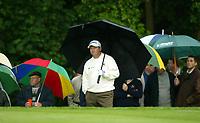 Photograph: Scott Heavey<br />Volvo PGA Championship At Wentworth Club. 23/05/2003.<br />Ian Woosnam enjoys the day.