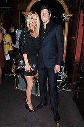TESS DALY and VERNON KAY at the 39th birthday party for Nick Candy in association with Ciroc Vodka held at 5 Cavindish Square, London on 21st Januatu 2012.
