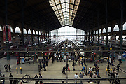 train platform with commuters Paris Gare de L?Est