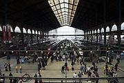 train platform with commuters Paris Gare de L?Est