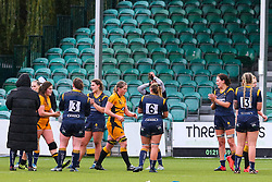 Worcester Warriors Women form a tunnel for their opponents after the game - Mandatory by-line: Nick Browning/JMP - 24/10/2020 - RUGBY - Sixways Stadium - Worcester, England - Worcester Warriors Women v Wasps FC Ladies - Allianz Premier 15s