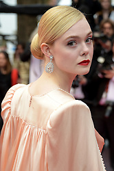 """May 14, 2019 - Cannes, France - 72nd Cannes Film Festival 2019, Red carpet film """"The dead don't die"""" and Opening Ceremony.Pictured: Elle Fanning (Credit Image: © Alberto Terenghi/IPA via ZUMA Press)"""